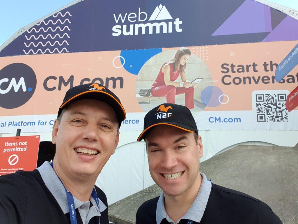 L'équipe de N2F au Web Summit de Lisbonne.